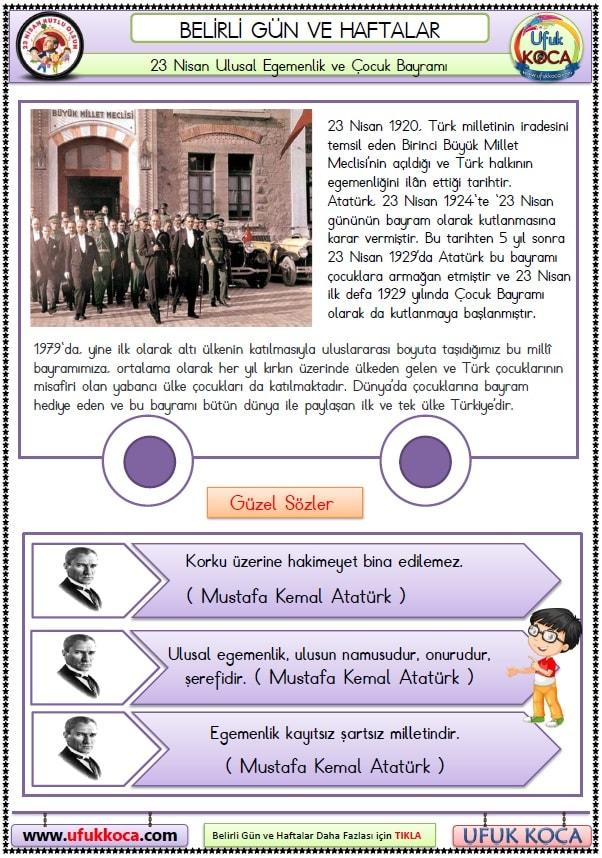 23 Nisan Ulusal Egemenlik Ve çocuk Bayramı Tüm Dokümanlar Afiş