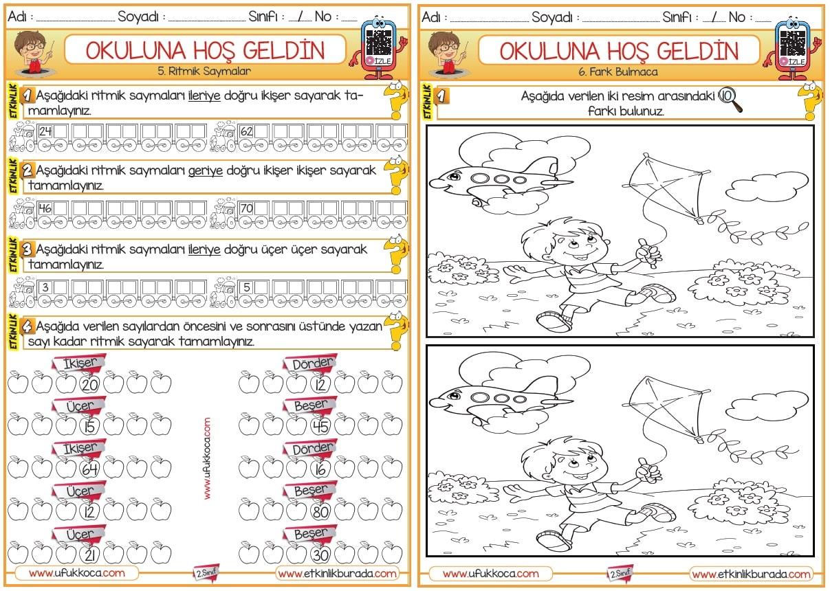 2 Sinif Matematik Okula Hos Geldin Etkinlik Paketi 10 Sayfa