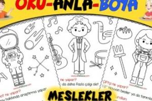 Astronot-Müzisyen-Çiftçi-Kaptan Oku Anla Boya