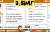 3.Sınıf İhtiyaç Listesi – Word'de Düzenleyebilirsiniz
